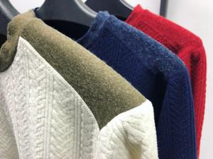-Cable Fleece Sweater-