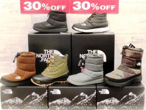 ノースフェイスの 防寒ブーツが30%OFF!