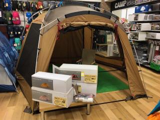 ポイントも10%還元!スノーピークのお買得なテントのセットが店頭に登場!!